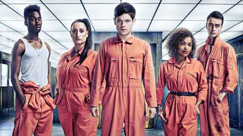 Illustration for article titled See an exclusive clip from series three of Misfits, debuting on Hulu Monday