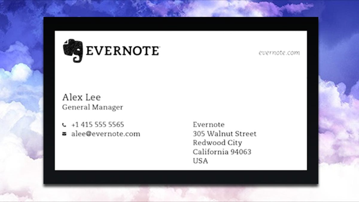 Evernote for android gets business card scanning reheart Images