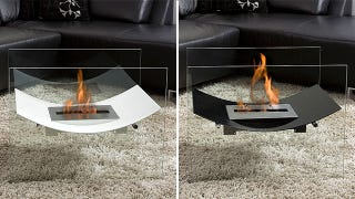 Floating Fireplace Produces No Smoke Requires No Sorcery
