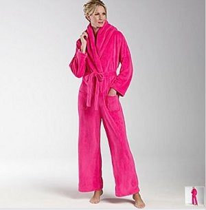 Illustration for article titled Bathrobe Jumpsuit is the Final Word in Snuggie Technology