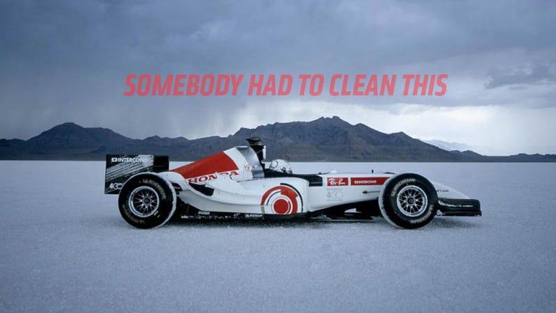 Mechanic Posts Incredibly Satisfying Restoration of Honda's Dirtiest F1 Car Ever