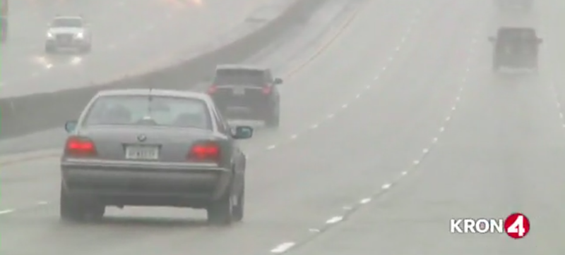 Illustration for article titled Please Laugh At These California Drivers Flummoxed By Rain