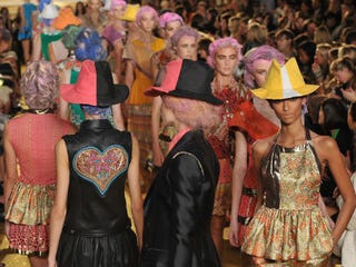 Models at the Thakoon show (Getty Images)
