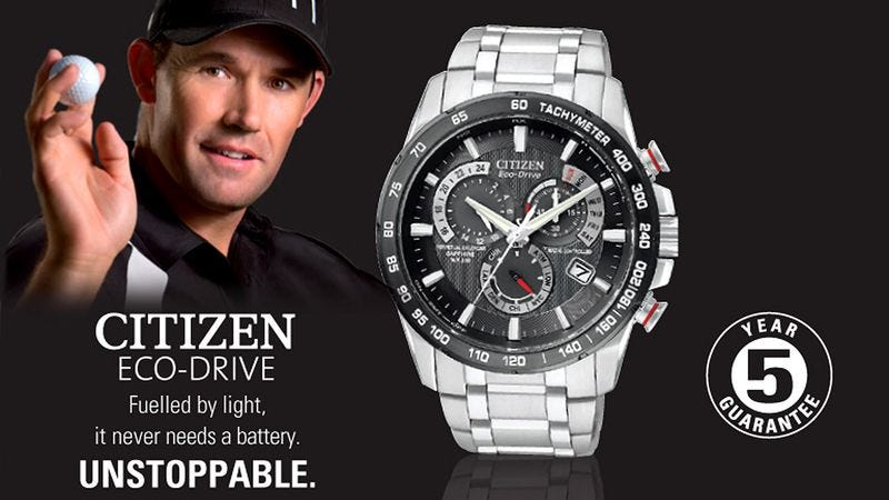 Illustration for article titled Nation Unsure What To Do With Information That Padraig Harrington Wears Citizen Watches