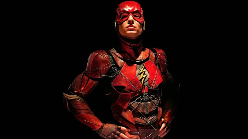 Ezra Miller as the Flash in Justice League.