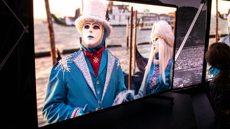 A Sony 8K TV on display at CES 2019.