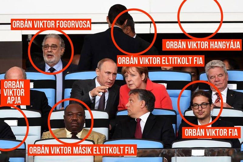 Illustration for article titled Három fiával együtt nézte a vb-döntőt Orbán