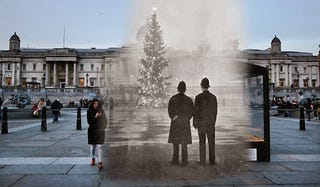 Illustration for article titled Christmas in the past and in the present in the same picture
