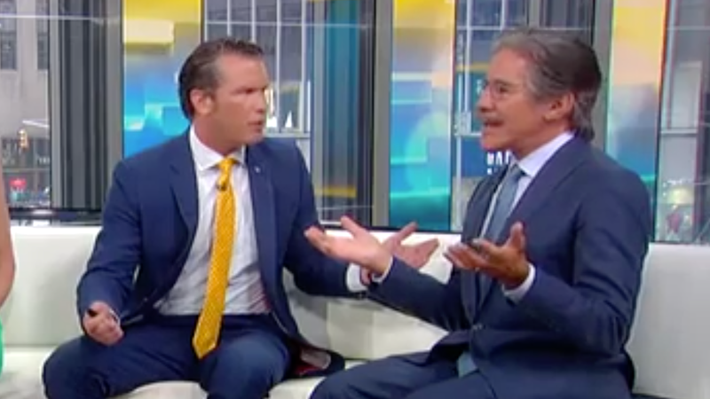 Illustration for article titled Fox News Host Tells Geraldo Rivera: 'I Can Tell You to Go Back Where You Came From'