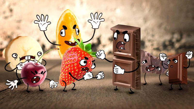 Illustration for article titled Fruit does not belong inside chocolate