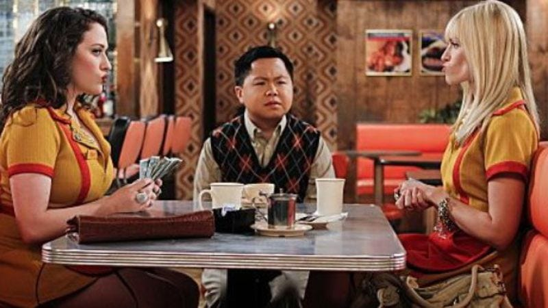 "Illustration for article titled 2 Broke Girls will make up for all the stereotyping by adding a ""hot Asian guy"""