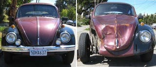 Illustration for article titled 1969 Volkswagen Beetle, Before And After Mishap