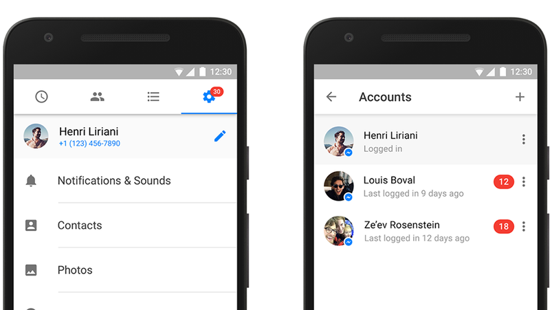 Facebook messenger now supports multiple accounts on one device or just have multiple messenger accounts using messenger just got a lot easier now on android you can add multiple accounts to facebook messenger ccuart Image collections