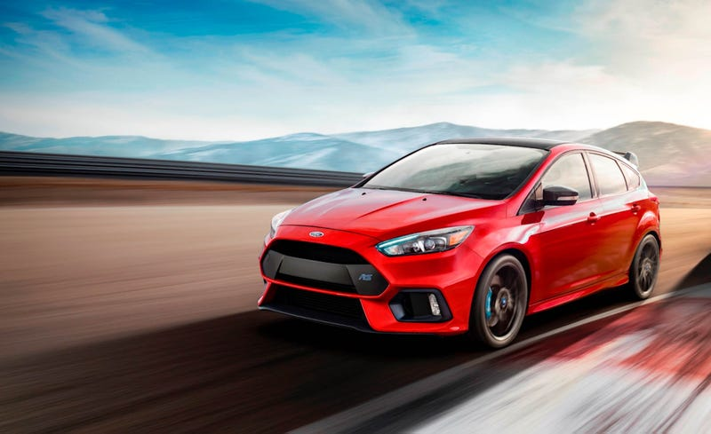The Ford Focus Rs Will Be Ending Its Production Run Soon With Model Year 2018 Cars And Is Sending It Out Sideways Some Upgraded Equipment
