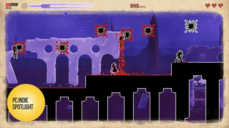 Illustration for article titled They Bleed Pixels is a Pleasurably Painful Way to Break In Steam's Big Picture Mode