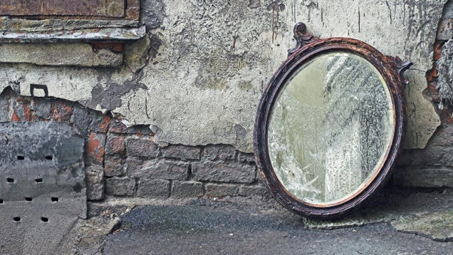 How to Make a Cheap Mirror Look Like a Pricey Antique