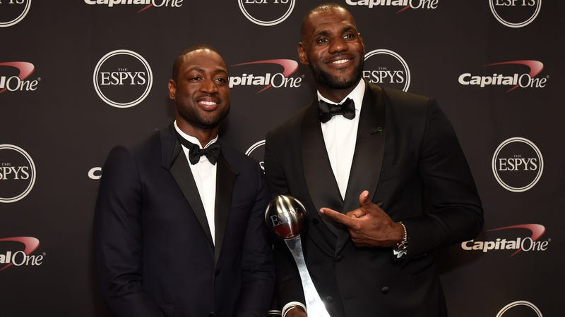 Dwyane Wade and LeBron James (Kevin Mazur/Getty Images)