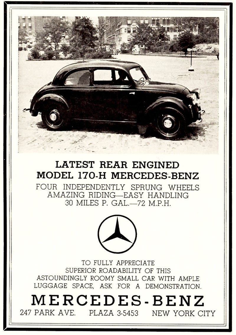 Illustration for article titled old Mercedes Benz ads