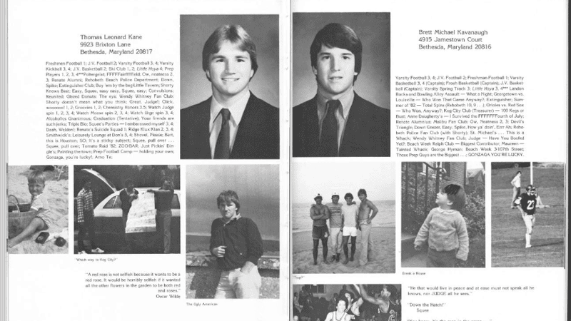 Illustration for article titled Now You Can Read Brett Kavanaugh's Entire High School Yearbook If You Want