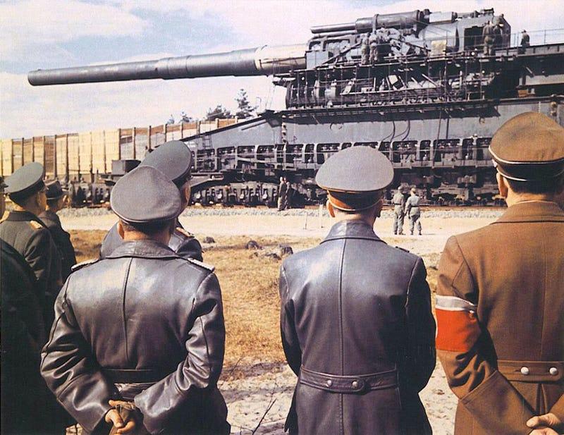 Illustration for article titled Cómo funcionaba Gustav, el descomunal cañón nazi que se convirtió en la pieza de artillería más grande jamás construida