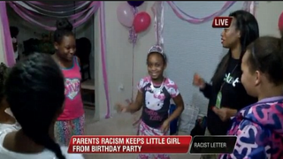Harmony Jones (center) is surrounded by friends and family at her birthday sleepover.WREG Screenshot