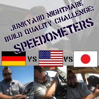 Illustration for article titled Junkyard Build Quality Challenge, Speedometer Edition: USA vs Germany vs Japan!