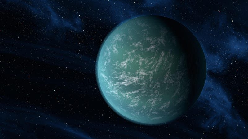 Artist's depiction of Kepler-22b—a super-Earth located 910 light-years from our Sun.
