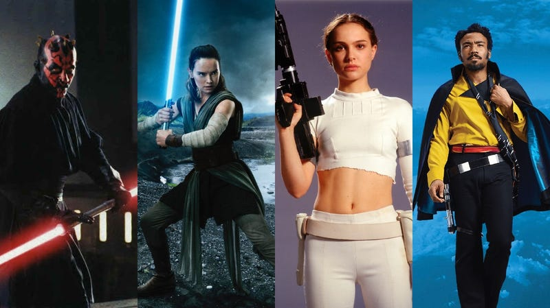 Choose your weapon: Multiple lightsabers, the classic stance, the Queen's Grip, or cape.