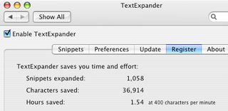 Illustration for article titled TextExpander tells you how much time you've saved