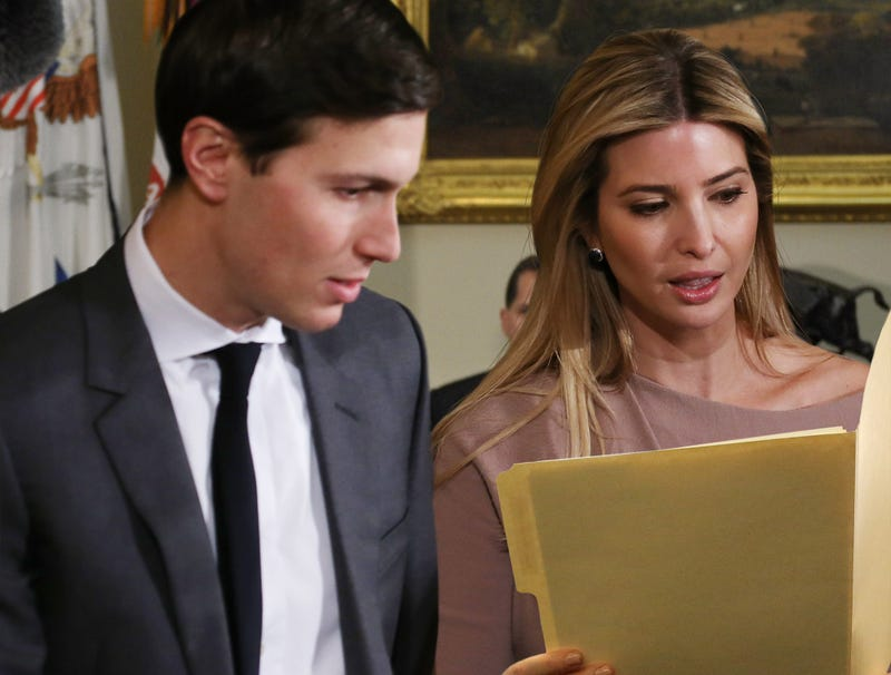 Illustration for article titled Jared Kushner Forced To Follow Along With Ivanka's Classified Documents During Meetings
