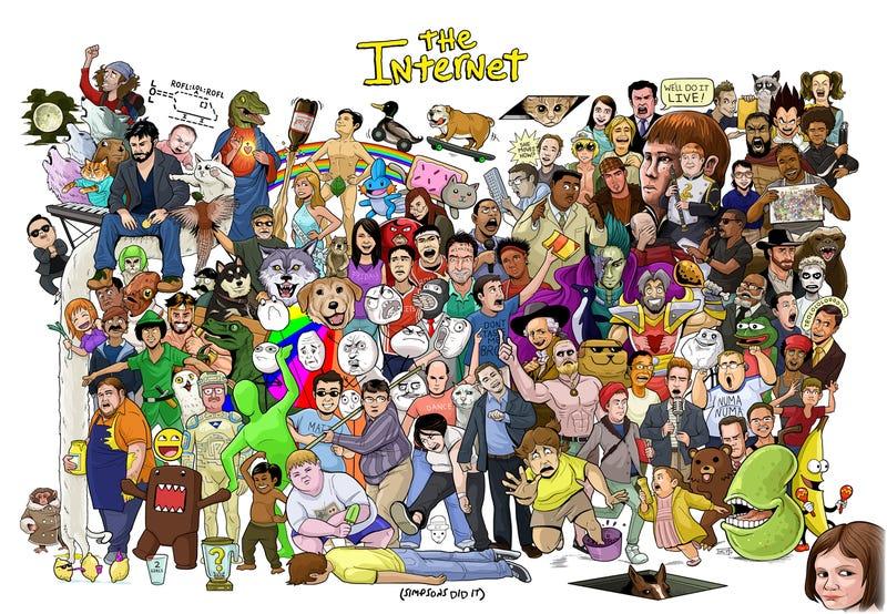 Illustration for article titled Historia viva de Internet: los mejores memes en un magnífico póster
