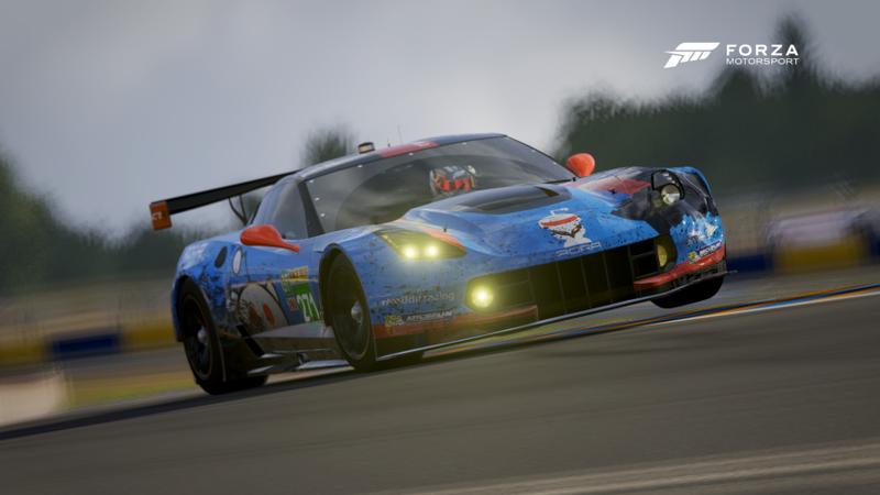 The #271 Reddit Racing GT Team 2 'Team Slow' Corvette C7.R, showing it's black eye from the night