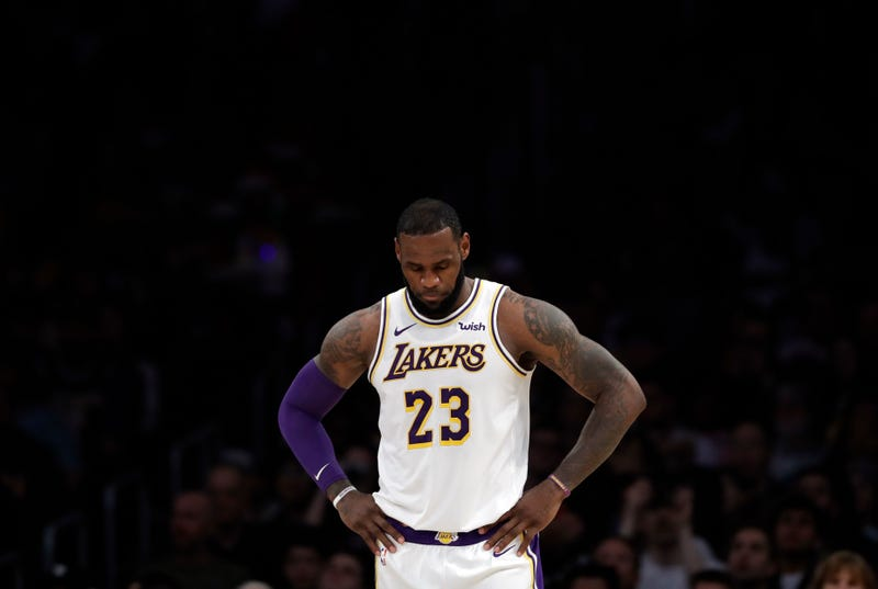 Los Angeles Lakers' LeBron James (23) during the first half of an NBA basketball game against the Memphis Grizzlies Sunday, Dec. 23, 2018, in Los Angeles.