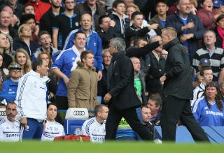 Illustration for article titled Jose Mourinho Gets Sent Off, Watches Rest Of Match Among Fans