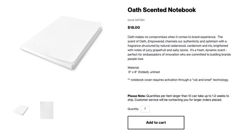 Screenshot: oath.companystore