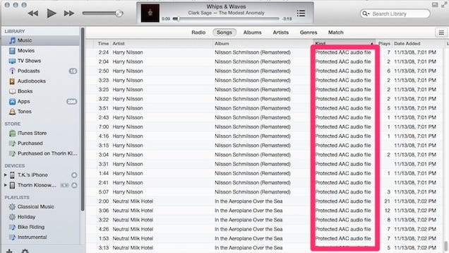 Delete Old DRM Copies Of ITunes Music And Download DRM