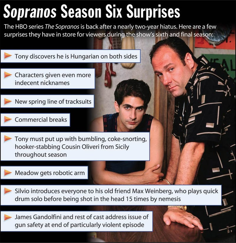 Illustration for article titled Sopranos Season Six Surprises