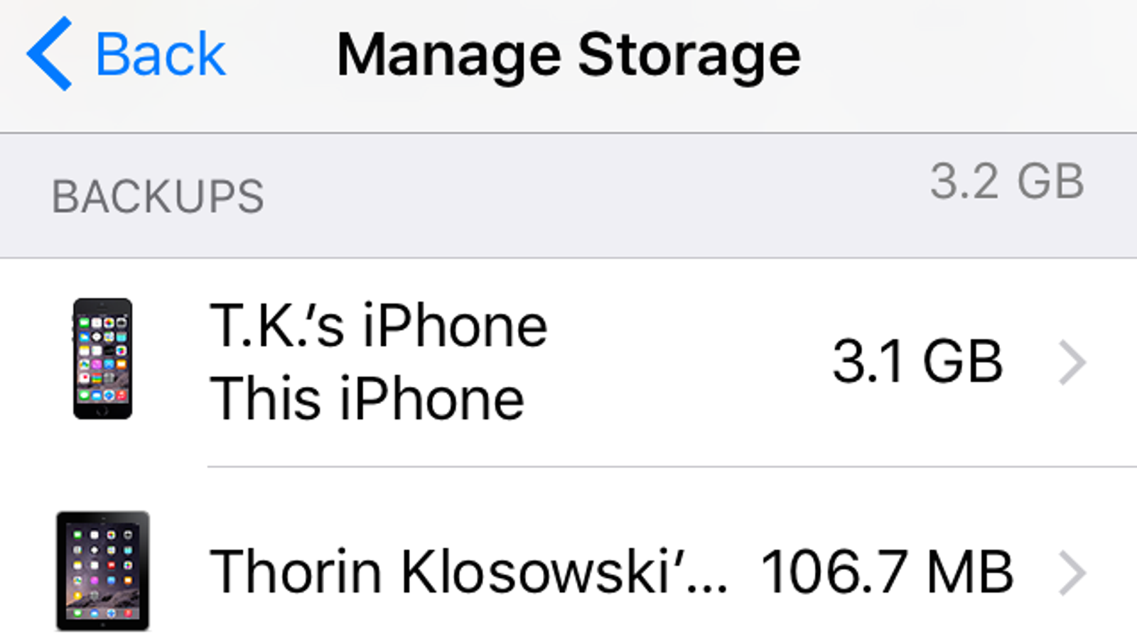 Delete Old iPhone iCloud Backups to Free Up Space