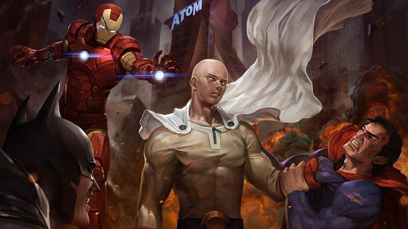 Illustration for article titled One Punch Man vs Marvel vs DC