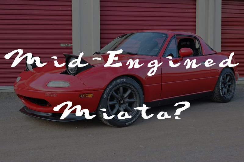 Illustration for article titled What if the Miata was Mid-Engined?