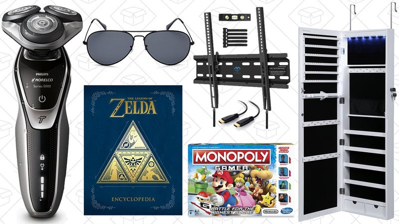 Illustration for article titled Sunday's Best Deals: Jewelry Storage, Zelda Encyclopedia, $21 Sunglasses, and More