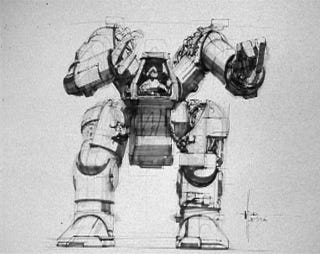 Illustration for article titled Aliens' Power Loader Was Way More Massive in Syd Mead's Concept Art