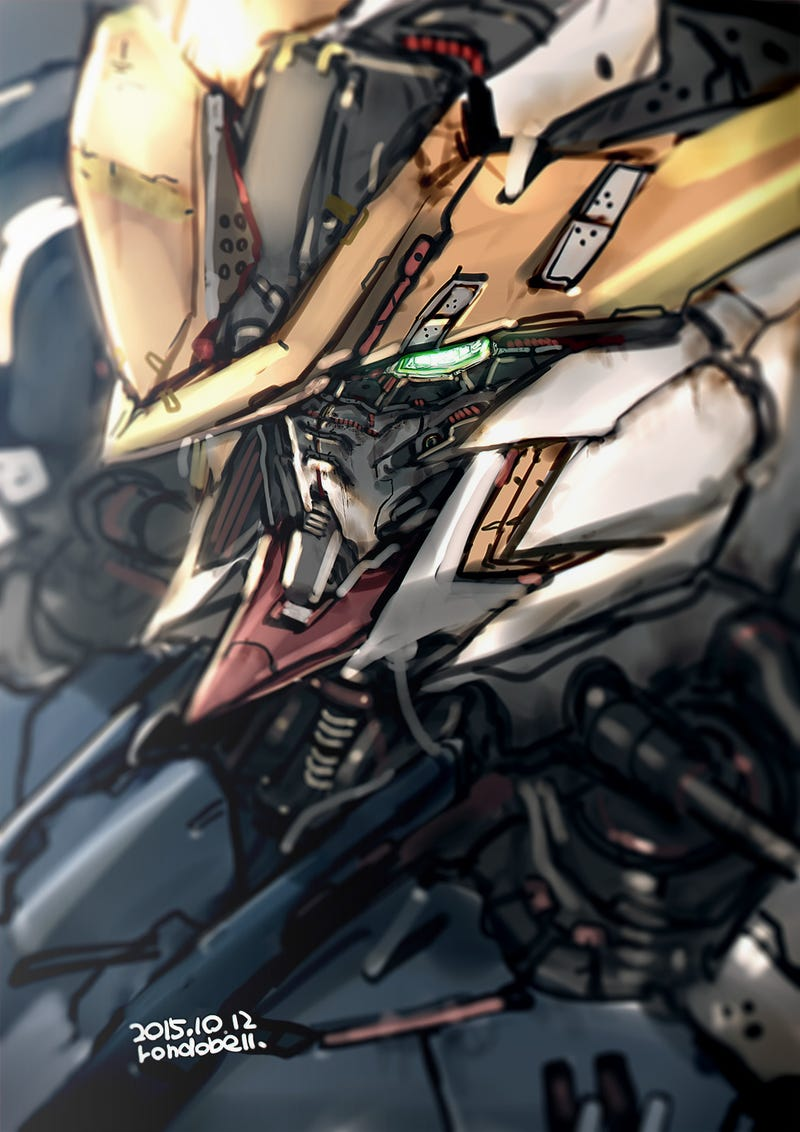 Illustration for article titled Here's Some Badass Gundam Artwork