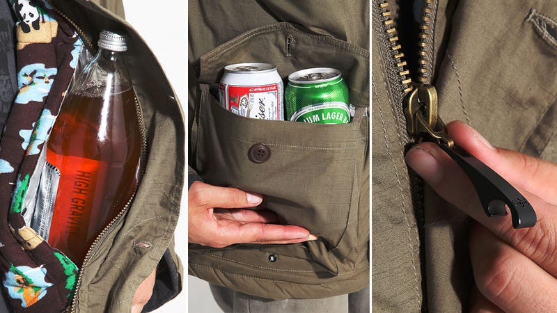 Illustration for article titled This Insulated Smuggler's Jacket Keeps You Warm and Your Booze Cold