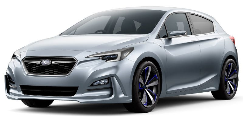 Illustration for article titled The Subaru Impreza 5-Door Hatch Concept Cranks The Excitement Up Maybe One Or Two Notches