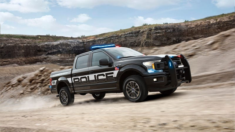 Illustration for article titled The New Ford F-150 Police Responder Is A Police Car That Can Handle The Load Of The Law
