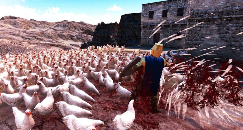 Illustration for article titled Battle Simulator Is Chickens vs Penguins vs Dwarves vs Chuck Norris