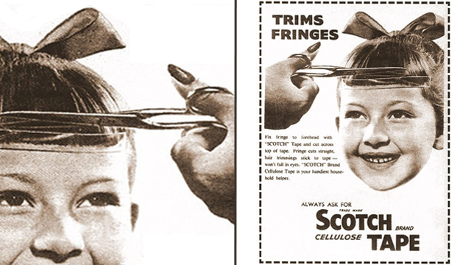 Why Not Use Scotch Tape To Trim Your Bangs