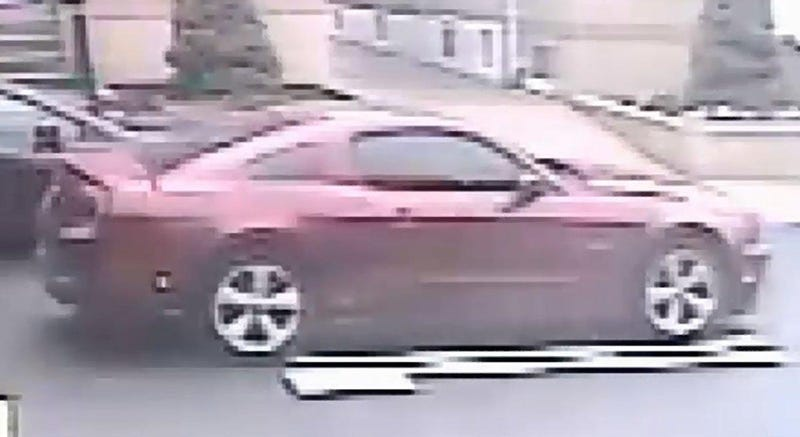 Suspect's red MustangThe New York City Police Department