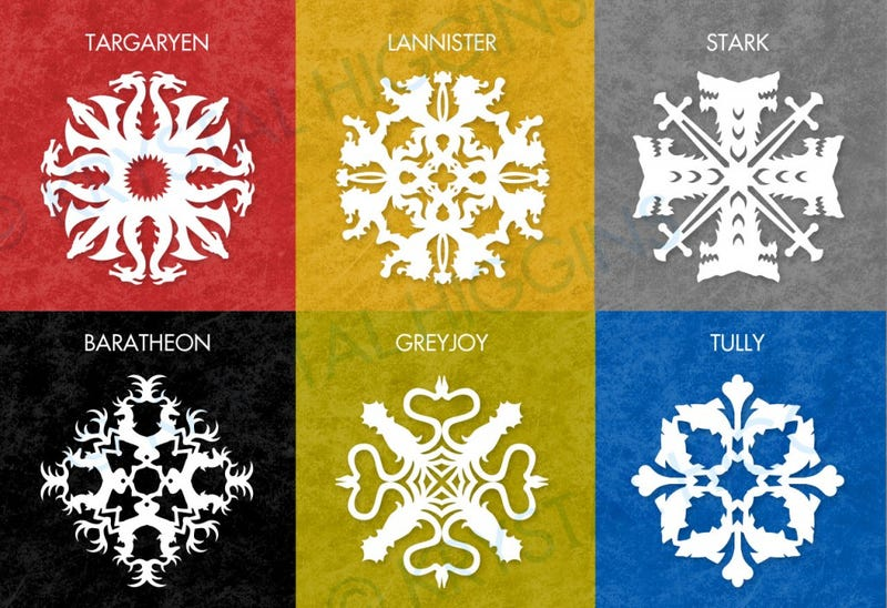 Illustration for article titled Winter is Coming: Make Game of Thrones paper snowflakes to celebrate